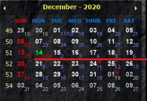 LỊCH CÔNG TÁC VÀ CHƯƠNG TRÌNH LÀM VIỆC CỦA LÃNH ĐẠO VIỆN  Từ  ngày 14/12/2020 đến ngày 20/12/2020
