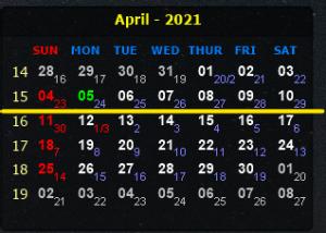 LỊCH CÔNG TÁC VÀ CHƯƠNG TRÌNH LÀM VIỆC CỦA LÃNH ĐẠO VIỆN  Từ  ngày 05/4/2021 đến ngày 11/4/2021
