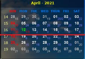 LỊCH CÔNG TÁC VÀ CHƯƠNG TRÌNH LÀM VIỆC CỦA LÃNH ĐẠO VIỆN  Từ  ngày 12/4/2021 đến ngày 18/4/2021
