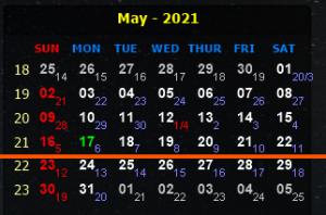 LỊCH CÔNG TÁC VÀ CHƯƠNG TRÌNH LÀM VIỆC CỦA LÃNH ĐẠO VIỆN  Từ  ngày 17/5/2021 đến ngày 23/5/2021